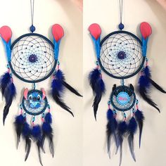 Lilo and Stitch Fan Gift - Blue Dream Catcher Wall Hanging - Birthday Gift Baby Nursery Children Room Decor The Dream Catcher, Dream Catcher Nursery, Jack Skellington, Roi Lion Simba, King Simba, The Lion King Characters, Cardboard Box, Nightmare Before Christmas Characters, Gifts For Newborn Girl