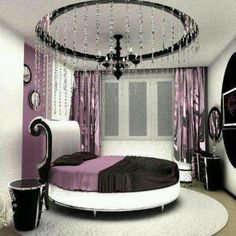 dream bedroom- I love round beds :) Awesome Bedrooms, Cool Rooms, Beautiful Bedrooms, Dream Rooms, Dream Bedroom, Pretty Bedroom, Bedroom Sets, Bedroom Decor, Cozy Bedroom