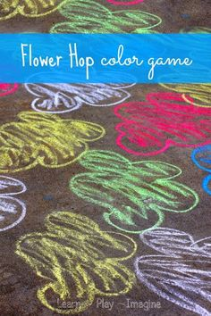 Gross motor color recognition game - an active way to learn colors