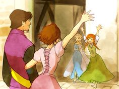 Frozen + Tangled -- it would be so cool if they made Rapunzel and Eugene part of a second Frozen movie <3