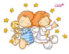 Wandtattoo Little Wingels Emily & Leon Clip Art, Boy Pictures, Good Night, Winnie The Pooh, Sheep, Baby Dolls, Disney Characters, Fictional Characters, Kindergarten