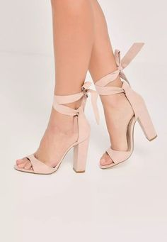 b837ba106bde Nude Curved Vamp Block Heeled Sandals - Missguided. nude heels are an  essential and these