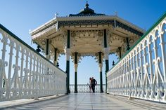 Weddings - Brighton bandstand - interesting low angle