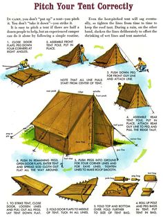 Would you like to go camping? If you would, you may be interested in turning your next camping adventure into a camping vacation. Camping vacations are fun Bushcraft Camping, Camping Survival, Outdoor Survival, Survival Skills, Camping Hacks, Camping Guide, Survival Prepping, Bushcraft Skills, Survival Stuff