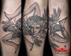 trinacria tattoo by Mehdi Rasouli broken tooth tattoos