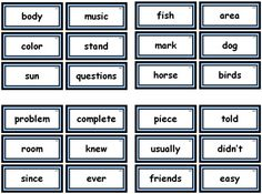 Download FREE flashcards, word lists, and assessment worksheets for all of Fry's 1000 Sight Words on Unique Teaching Resources.