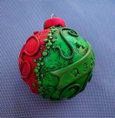 Polymer+Clay+Christmas+Balls   Christmas Ornament   Flickr - Photo Sharing!