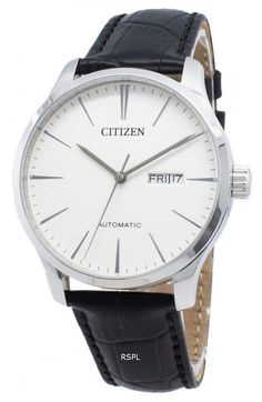 Features:  Stainless Steel Case Leather Strap Automatic Movement Caliber: 8200 Mineral Crystal White Dial Analog Display Day And Date Display Screwed Case Back Buckle Clasp 50M Water Resistance  Approximate Case Diameter: 40mm Approximate Case Thickness: 11mm