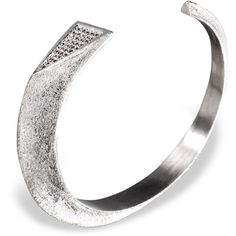 Ona Chan - Dagger Cuff With Swarovski Crystals Silver (700 DKK) ❤ liked on Polyvore featuring jewelry, bracelets, swarovski crystal jewelry, silver jewelry, silver bangles, cuff bangle and swarovski crystal jewellery