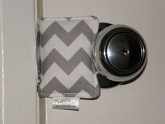 The Original Cushy Closer Door Cushion - Gray & White Chevron-Door Jammer Chevron Door, Grey Chevron, Door Jammer, Practical Baby Shower Gifts, Best Amazon Products, Door Latch, Baby Cover, Closed Doors, Grey And White