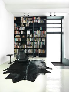 Contemporary Living Room Interior Design Ideas - 40 Home Library Design Ideas For a Remarkable Interior Home Library Design, House Design, Modern Library, Condo Design, Loft Design, Wall Design, Design Design, Home Theaters, Regal Design
