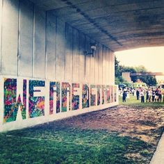 WE ARE DETROIT!! Community mural on the Dequindre Cut