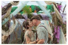 Siobhan & Chadwick's moon-loving techno-hippie wedding