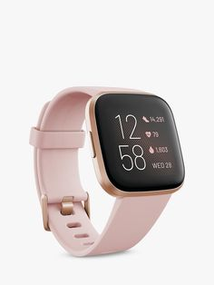 Top Rated Gear: Fitbit Versa 2 Health and Fitness Smartwatch with Built-In Alexa, Petal/Copper Rose Aluminum MFR: Color: Pink, Promotion Flag: grad-gifts, grad-smartwatch Fitbit App, Fitbit Charge, Ios Apple, Bluetooth, Fitness Armband, Android Watch, Track Workout, Cycling Workout, Aerobics Workout