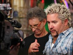 "Guy Fieri, host of The Food Network's ""Diners, Drive-ins and Dives,"" is visiting Cincinnati once again, and stopped in at Bakersfield in OTR!"