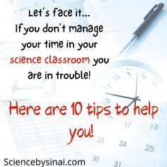 Effective Time Management, Good Time Management, Science Labs, Science Resources, Teacher Blogs, New Teachers, Classroom Control, Technology Problems, Science Clipart