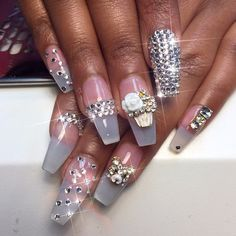 Thank you for my Bling and Charms @pimpmyclaws Them NAILS got PIMPED