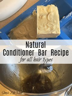 Conditioner Bar Recipe for All Hair Types – Natural Conditioner Bar Diy Shampoo, Shampoo Bar, Homemade Shampoo, Organic Hair Care, Shampoo And Conditioner, Homemade Hair Conditioner, Natural Hair Conditioner, Homemade Beauty, Diy Beauty
