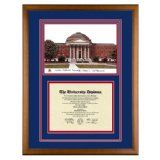 Southern Methodist University Texas Diploma Frame with SMU Lithograph Art PrintBy Old School Diploma Frame Co.