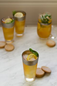 Ginger Mint Green Iced Tea from @aida amira Mollenkamp // Pairs Well With Food