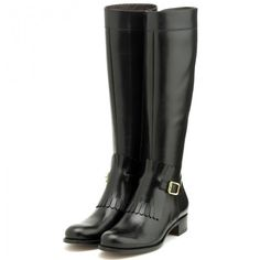 Rupert Sanderson Black Leather Riding Boot