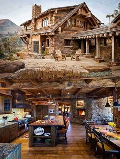 rustic bedroom design, mountain homes, log cabin living, log cabin homes Small Log Cabin, Log Cabin Homes, Log Cabins, Dream Home Design, My Dream Home, Dream Homes, Cabins And Cottages, Mountain Homes, Dream House Exterior