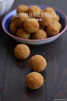 Bocadinhos de Açúcar: Bolinhas de puré de Batata com cebolinho