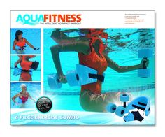 Amazon.com: Aqua Fitness Exercise Set - 6 Piece Water Exercise Aerobic Belt, Barbells and Workout Routine: Sports & Outdoors