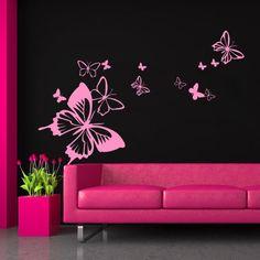 Decoretto - Wandtattoo - Abflug der Schmetterlinge