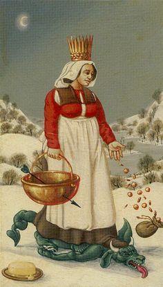 Bruegel Tarot - Queen of Cups