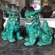 Pair of Japanese Porcelain Foo Dogs cir Chinese Dog, Hollywood Regency Decor, Fu Dog, Lion Dog, Dog Sculpture, Japanese Porcelain, Magical Creatures, Ancient Art, Beautiful Artwork