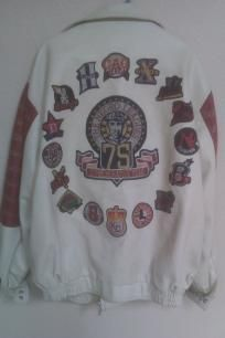 The Negro Leagues 75th Comemmorative 100% Leather Jacket W/Patches Cream & Burgundy. Wow Nice!!! http://yardsellr.com/yardsale/Erik-Marx-416944
