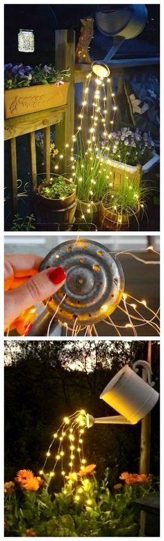 How To Make A Glowing Watering Can with Fairy Lights ~ So beautiful and SO easy to make!