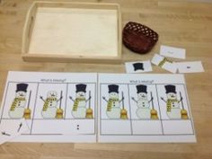 Missing Parts of a Snowman- Montessori Language Winter