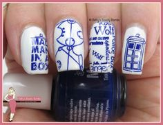 http://www.bettysbeautybombs.com/2015/07/08/tardis-nail-art/ / TARDIS Doctor Who Nail Art