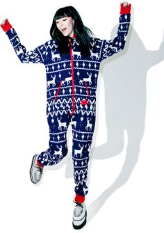 Tipsy Elves Blue Fair Isle Jumpsuit yer welcome to crash any fugly Christmas sweater party. Especially when yer wearing this dope az fck onesie that's bringing all the elves to yer yard. Stay cozy in this royal blue fuzzy luxury with a badazz fair isle knit pattern that's got reindeer prancing across yer goods and bitz. Complete with a fleece lining, this snow-brainer has two zipper pockets, two open pockets, a hood, and a double zip closure traveling down yer front. After a few swigs of…