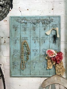 Painted Cottage Chic Shabby Aqua Hotel Key by paintedcottages, $65.00