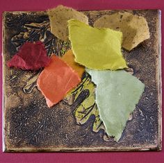 4. At this time, I may add multiple rice papers for the Chine Colle technique. Carolyn Counnas Fine Art, Thousand Oaks, California, USA.