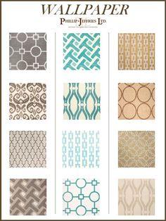 Interior design board wallpaper phillip jefferies wall coverings