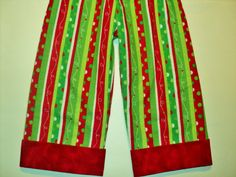 Childrens Christmas Pajama Pants  Made to Order by AuntBsBonnets, $14.00