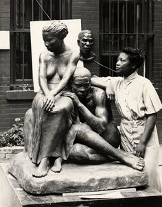 Augusta Savage (Feb 29, 1892 – March 26, 1962) was an African-American sculptor associated with the Harlem Renaissance. She was also a teacher and her studio was important to the careers of a rising generation of artists who would become nationally known. She worked for equal rights for African Americans in the arts.