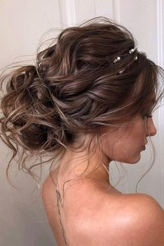 Party hairstyles 373446994102979079 - Best wedding hairstyles updo curly bridesmaid curls ideas Source by torrtori Messy Wedding Hair, Wedding Hair And Makeup, Hair Makeup, Updos For Wedding, Brown Wedding Hair, Hair For Prom, Prom Hair Bun, Prom Updo, Wedding Ceremony