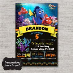 Finding Dory Birthday inviteFinding Nemo Birthday by DIYpartyprint
