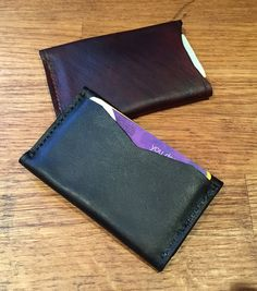 Black billfold wallet by YeomansLeather on Etsy