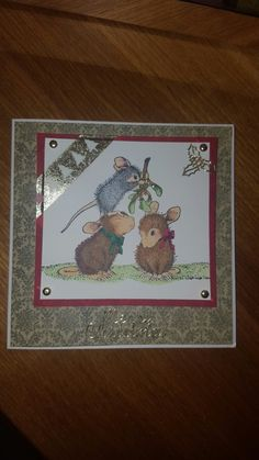 Christmas card using #housemouse #spectrumnoir
