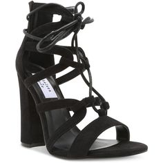 Chelsea & Zoe Elyse Gladiator Sandals ($71) ❤ liked on Polyvore featuring shoes, sandals, black micro, greek sandals, gladiator sandals shoes, kohl shoes, black shoes and gladiator sandals
