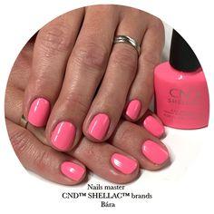 Shellac Nails, Pink, Beauty, Pink Hair, Beauty Illustration, Roses, Shellac