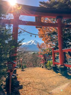 Views of Mount Fuji from Lake Kawaguchi - Views of Mount Fuji from Lake Kawaguchi : Frame Mount Fuji with the Torii gate at the entrance to the Arakurayama Sengen Shrine! Monte Fuji, Japan Travel Photography, Landscape Photography Tips, Japanese Photography, Aesthetic Japan, Travel Aesthetic, Torii Gate, Visit Japan, Visit Tokyo