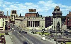 The old post office and Clinton Square in the 1950's
