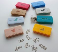 D-Clips Animal Shaped Paper Clips / The perfect stocking stuffer! Who wouldn't be pleasantly surprised if they looked down to see animal-shaped paperclips securing their documents? These paperclips are stronger and more solid than average paperclips, so y Cool School Supplies, Office Supplies, Cute Stationary, Stationary Store, Cool Presents, School Stationery, Kawaii Stationery, Christmas Gift Guide, Too Cool For School